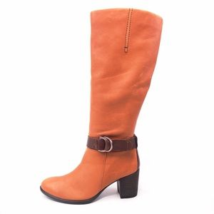 Ecco Shape 55 Brown Leather Tall Boots EUR 36